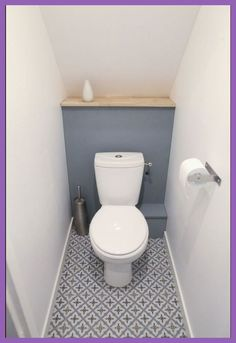 Space Saving Toilet Design for Small Bathroom - Home to Z Small Toilet Decor, Small Toilet Design, Small Toilet Room, Bathroom Small, Bathroom Ideas, Bathroom Remodeling, Remodeling Ideas, Half Bathrooms, Cloakroom Ideas Small
