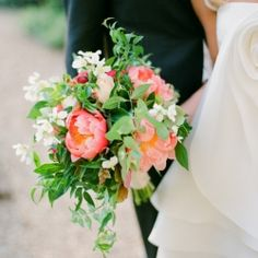 bouquet with lots of green