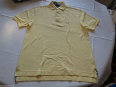 Men's Tommy Hilfiger Polo shirt S small sm solid NEW 863519689 744 yellow #TommyHilfiger #polo