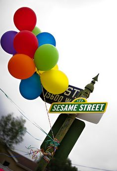 Sesame Street birthday party sign via Kara's Party Ideas - www.karaspartyideas.com