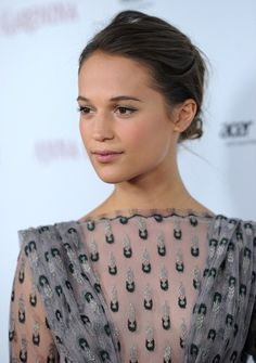 Alicia Vikander- she is such a natural beauty! Perfect barely there makeup