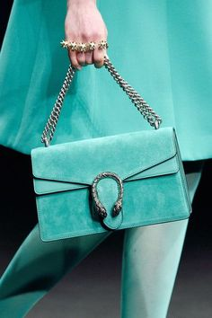 Turquoise | purse, handbag, accessory, catwalk