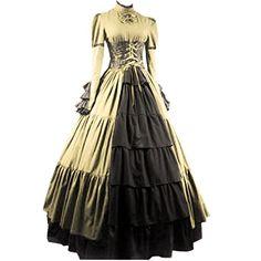 Partiss Women Bowknot Stand Collar Gothic Victorian Dress Costumes,XS,Champagne Fancy Dress Store http://www.amazon.com/dp/B00YMHQTDO/ref=cm_sw_r_pi_dp_XaoSvb1TKG0DA