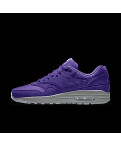separation shoes ed9f1 c8aa4 Nike Air Max 1 Essential Id Purple Grey Womens Shoes Outlet