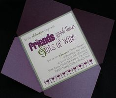 Wine Themed Bridal Shower Invitation - www.invitations-ink.com