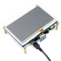 480*272, HDMI interface, Designed Compatible Raspberry Pi 3B/2B/B+/B/Zero