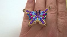 The Rainbow Butterfly Ring Tutorial English by RenovatiobyLuciela