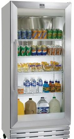 see through refrigerators dare to go bare glass front fridge doors put your food and drinks on. Black Bedroom Furniture Sets. Home Design Ideas