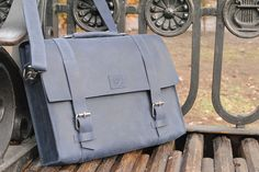 Leather Messenger Bag from Doodka Leather Goods!  #leatherbagformen, #leatheraccessories, #luxuryleatherbag