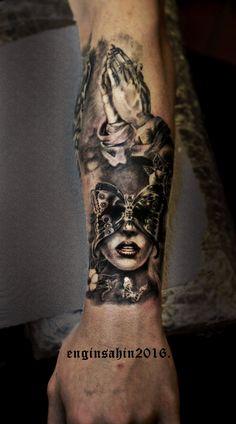 women - tattoo - dövme - el dövmesi - realistic tattoo - engin şahin