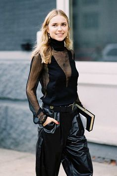 How to make an all-black outfit anything but boring