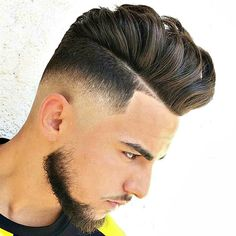 Pompadour with Mid Skin Fade