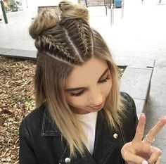 30 cute braided hairstyles for short hair # . 30 cute braided hairstyles for short hair Soft, shiny, silky and well-groom. Boxer Braids Hairstyles, Cute Braided Hairstyles, Cute Girls Hairstyles, Pretty Hairstyles, Stylish Hairstyles, Natural Hairstyles, Sweet Hairstyles, Wedding Hairstyles, Hairdos