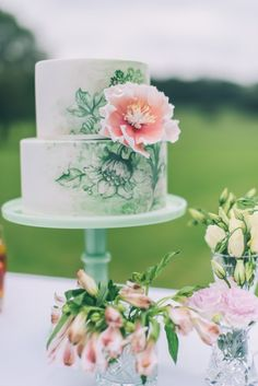 A work of art: http://www.stylemepretty.com/2015/06/14/wedding-cakes-almost-too-pretty-to-eat/