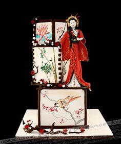 Geisha inspired cake