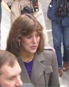 Princess Caroline of Monaco at Princess Grace Hospital,London.October 17,1983.