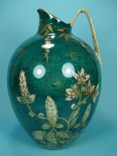 """Kunstabteilung Selb """"Goldrausch"""" designed by Walter Mutze Hand painted 25 cm  Photo courtesy of Ebay seller mr-ornamentum Vases, Hand Painted, Painting, Ebay, Design, Home Decor, Gold Rush, Decoration Home, Room Decor"""