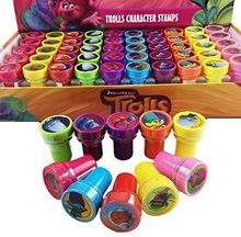Trolls Character Authentic Licensed 10 Assorted Stampers Party Favors