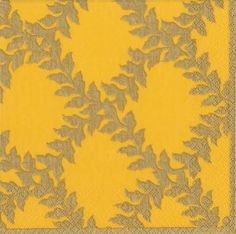 yellow paper napkins