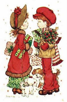 sarah kay - Page 19 Sarah Key, Holly Hobbie, Christmas Pictures, Christmas Art, Vintage Christmas, Images Gif, Cute Images, Les Themes, Childhood