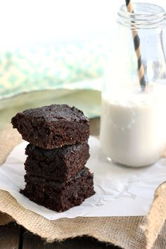 These vegan salted chocolate brownies are fudgy and decadent. Super simple to whip up and you'd never guess they were healthy!