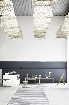 BASOPEN-LAMP. Bamboo woven basket pendant light from Tine K Home Denmark.  Available this week  from www.this.com.au