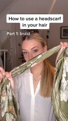 Bandana Hairstyles, Easy Hairstyles For Long Hair, Diy Hairstyles, Pretty Hairstyles, Hairstyles For Women, Medium Hair Styles, Curly Hair Styles, Aesthetic Hair, Hair Videos