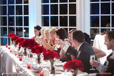 Red roses on head table   - November Wedding   Wedding Gallery | GoIzzy by Marek Dziekonski Photography