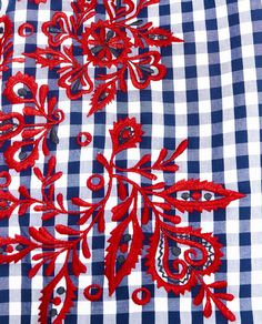 Image 7 of EMBROIDERED CHECKED TOP from Zara