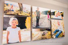 Photographer Studio Interior - Stephanie Neal Photography wall display   http://www.stephanienealphotography.com