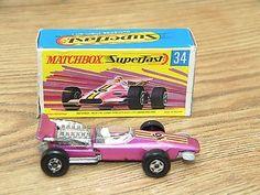MATCHBOX LESNEY 1970 SUPERFAST FORMULA 1 RACING CAR No.34 WITH BOX - http://www.matchbox-lesney.com/?p=7756
