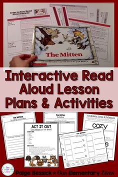 Interactive Read Aloud for The Mitten! Includes lesson plans with in-depth comprehension, vocabulary, after reading activities and retelling worksheets. Perfect for kinder, first, and second grades this resource will make planning your IRA fast and easy. It even meets the common core and is just print and go and has a template and detailed directions for printing on sticky notes. Your kids are going to love this one!