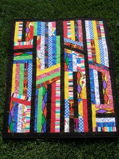 Color Bright Quilted Wall Hanging by MoranArtandQuilts on Etsy, $65.00