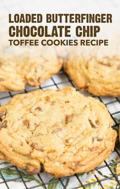 These Loaded Butterfinger® Chocolate Chip Toffee Cookies are chock full of that crispety, crunchety, peanut-buttery taste that you know and love. This easy dessert recipe adds a modern twist to a classic family treat. Serve this homemade baked good at every entertaining event this summer, including neighborhood cookouts, pool parties, and backyard barbecues.