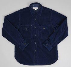 J.S. HOMESTEAD: CPO Shirt, Indigo Corduroy