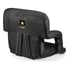 Show your support with the U.S. Army Ventura Reclining Stadium Seat. It's a portable recreational six position recliner with adjustable armrests.