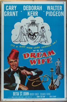 Best Film Posters : Dream Wife 1953 Vintage Movie Poster starring Cary Grant, Deborah Kerr and… - Dear Art Old Movie Posters, Classic Movie Posters, Cinema Posters, Movie Poster Art, Classic Movies, Old Movies, Vintage Movies, Great Movies, Deborah Kerr