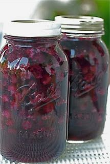 Blueberry Pie Filling in a Jar