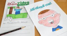 All About Me - Beginning of Year - Back to School. Students color, draw and write all about themselves (14 pages!)