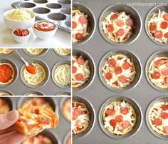 These deep dish mini pizzas are so easy to make and they TASTE AMAZING! They make a great lunch, dinner or you could even serve them as an appetizer! Recipes for kids to make How to Make Deep Dish Mini Pizzas Birthday Party Snacks, Snacks Für Party, Easy Snacks, Easy Toddler Lunches, Game Night Snacks, Picnic Snacks, Picnic Ideas, Party Party, Party Ideas