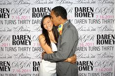 Step and Repeat banner, personalized photo booth backdrop or DIY Photobooth www.MySweetDay.com $275.00