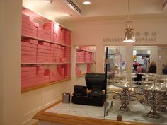 Georgetown Cupcakes #store -- the signature pink box wall