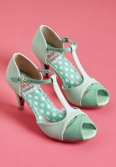 95af3ba1c19 Trademark Gait T-Strap Heel in Mint