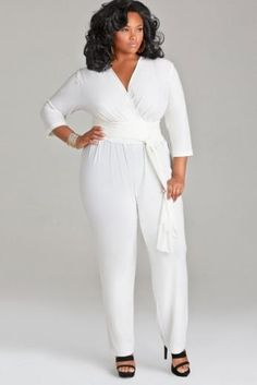 c41a561a95ef Curvy Girl Style  Shopping Guide. Plus Size White JumpsuitCurvy ...
