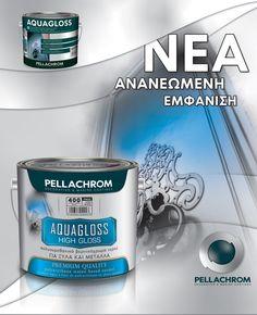 Το AQUAGLOSS είναι υψηλής ποιότητας γυαλιστερό υδατοδιαλυτό τελικό χρώμα με βάση τροποποιημένες πολυουρεθανικά ρητίνες. Είναι άοσμο. Ιδανική λύση για την βαφή μεταλλικών (κάγκελα, σιδηροκατασκευές, κ.α.) και ξύλινων (πόρτες, κουφώματα, ντουλάπια, παράθυρα) επιφανειών.  ☑️ υψηλή σκληρότητα & ελαστικότητα ☑️ εξαιρετικές αντοχές & πρόσφυση ☑️ θαυμάσιο άπλωμα, εύκολο δούλεμα  #pellachrom #colors #paints #table #livingroom #interior #decoration #inspiration #diy Personal Care, Products, Self Care, Personal Hygiene, Gadget