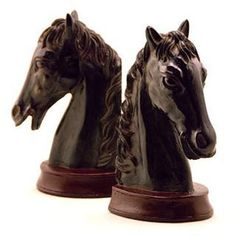 Add some classic nobility to your bookshelves with these distinguished Horse Head Bookends. $40.00