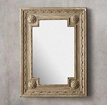Louis XVI Beaded Mirror - Natural