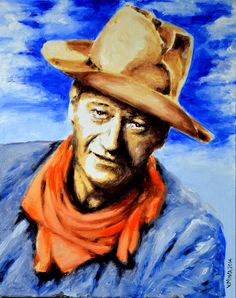 John Wayne Art Print Limited Edition Art Prints, personally inspected, numbered, approved and signed, with a Certificate of Authenticity