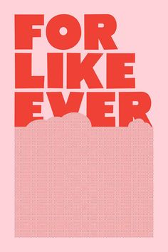 For Like Ever Print - Pink/Red - Super Rural - $65.00 - domino.com