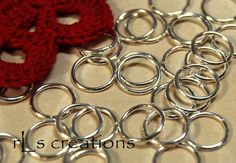 Jumprings 10MM 18GA Silver Plated by rlscreations on Etsy (Craft Supplies & Tools, Jewelry & Beading Supplies, Findings & Hardware, jump rings, jumprings, silver plated, round, connector, findings, metal, silverplated, open, 10mm, 10 mm, 18ga, 18 ga)